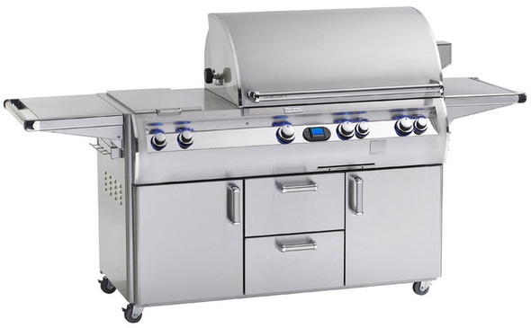 Fire Magic E660s-4E1N-71 Echelon Diamond 30-Inch Gas Grill With Double Side Burner, Wood Chip Smoker Drawer, & Rotisserie Backburner On Cart + Optional FREE Infrared Burner!