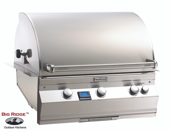 Fire Magic A660i-6EAN Aurora Built In Grill With Rotisserie Back Burner & Grill Light