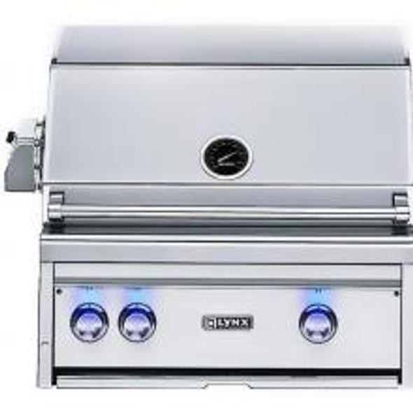 Lynx L27R-3 27-Inch Gas BBQ Grill - Built-In Natural Gas With Rotisserie