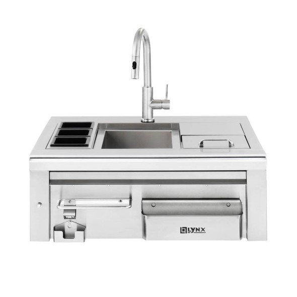 Lynx LCS30 Professional Built-In Cocktail Pro Station With Sink & Ice Bin Cooler