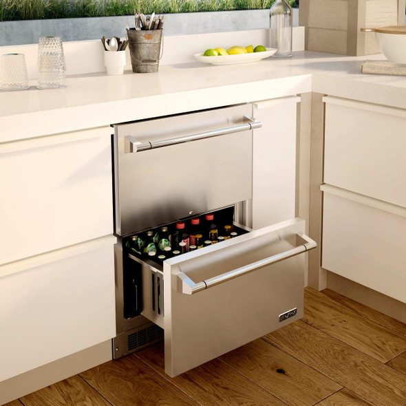 "Lynx LM24DWR Professional 24"" Two Drawer Refrigerator"
