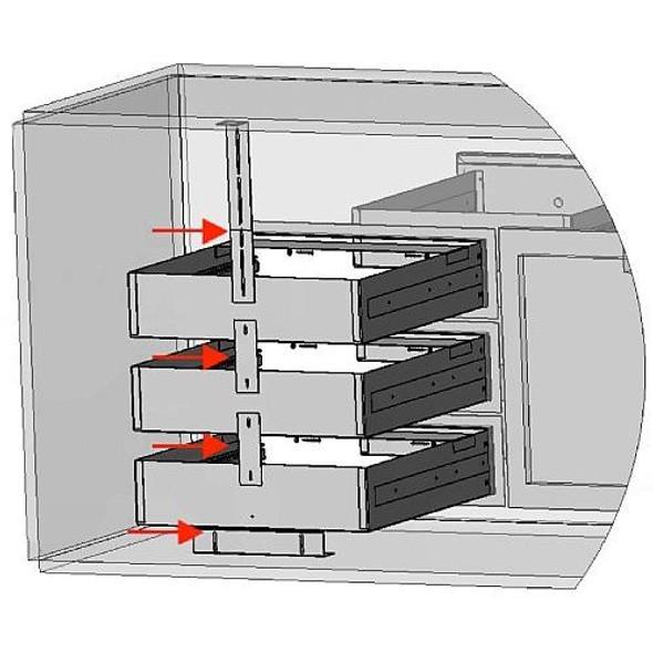 Lynx LMD-KIT Modular Drawer Kit For LMD Modular Drawers Required To Stack Single Drawers