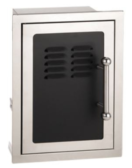 "Fire Magic 53820HSC-TL Echelon Black Diamond 21"" Left Hinged Single Access Door With Tank Tray And Louvers"