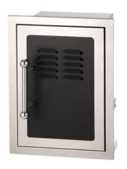 "Fire Magic 53820HSC-TR Echelon Black Diamond 21"" Right Hinged Single Access Door With Tank Tray And Louvers"