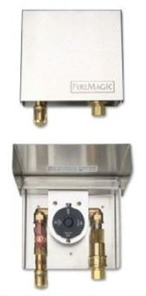 Fire Magic 5520-01T Gas Connection Box With Timer And Quick Disconnect