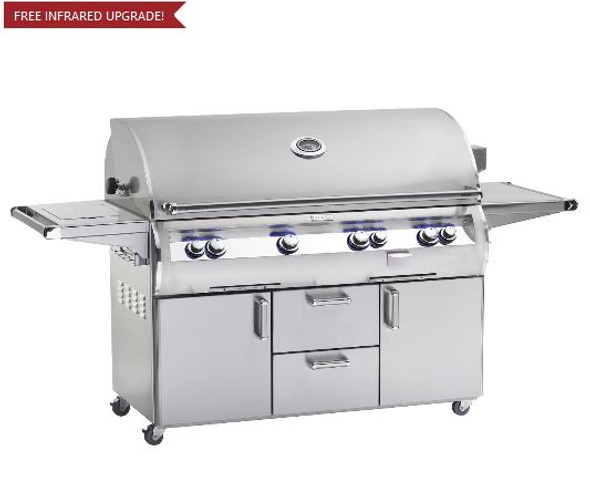 Fire Magic E1060s-4EAN-62 Echelon Diamond 48-Inch Freestanding Gas Grill With Analog Thermometer And Single Side Burner