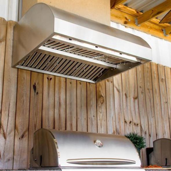 Blaze 42-Inch Stainless Steel Outdoor Vent Hood - 2000 CFM - Blaze BLZ-42-VHOOD 42-Inch Stainless Steel Outdoor Vent Hood - 2000 CFM