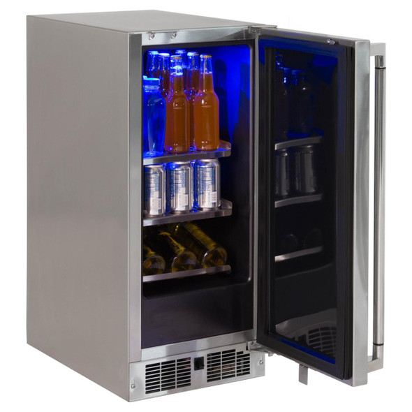 Lynx LM15REF L/R 15-Inch 2.7 Cu. Ft. Stainless Steel Left Or Right Hinge Outdoor Compact Refrigerator