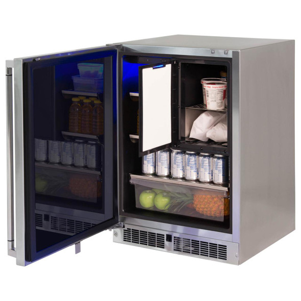 Lynx LM24REFC L/R 24-Inch Right Or Left Hinge Stainless Steel Outdoor Refrigerator Freezer