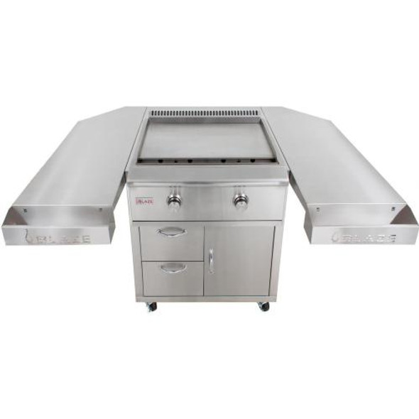Blaze BLZ-Griddle + BLZ-Griddle-Cart + BLZ-Griddle-SHK 30-Inch Freestanding Propane Or Natural Gas Griddle On Deluxe Cart