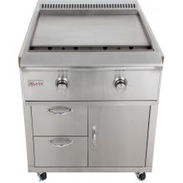 Blaze BLZ-Griddle + BLZ-Griddle-Cart 30-Inch Freestanding Propane Or Natural Gas Gas Griddle