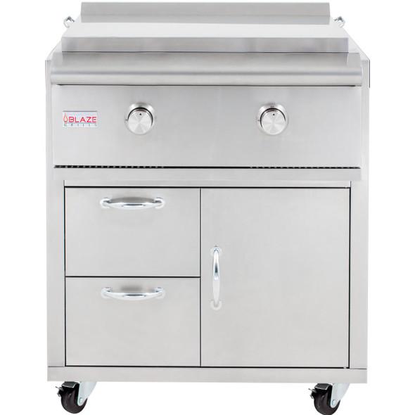 Blaze BLZ-Griddle + BLZ-Griddle-Cart 30-Inch Freestanding Propane Or Natural Gas Gas Griddle