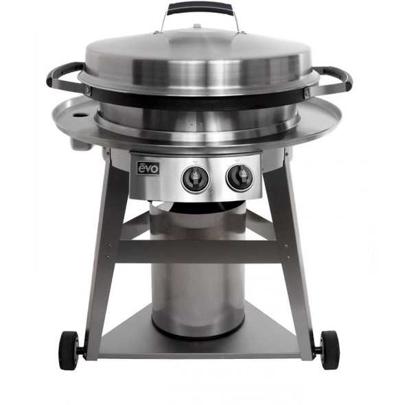 Evo 10-0002-LP  Or 10-0002-NG Professional Classic Wheeled Cart Flattop Propane Or Natural Gas Grill