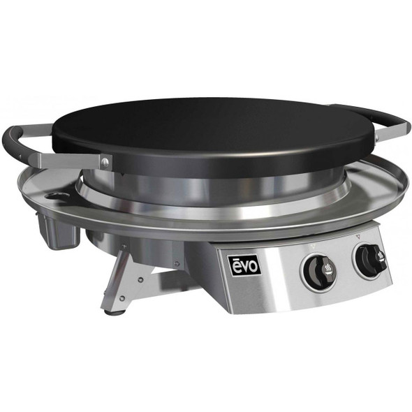 Evo 10-0021-NG  Or 10-0021-LP Professional Classic Tabletop Flattop Natural Or Propane Gas Grill