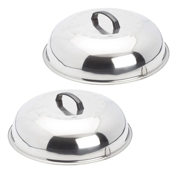 Evo 12-0116-AC Stainless Cooking/Steamer Covers - Set Of 2
