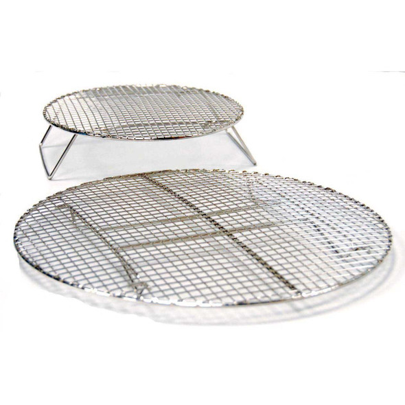 Evo 12-0117-AC Circular Stainless Roasting & Baking Racks - Set Of 2 Sizes