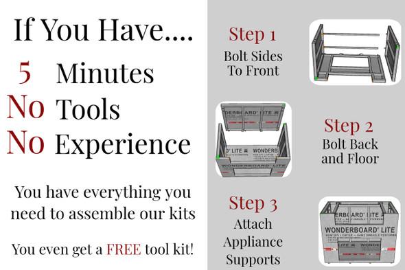 "25"" - 30"" DIY Outdoor Kitchen Frame Kit"