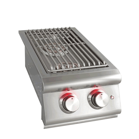 Blaze BLZ-SB2LTE LTE Built-In Propane Or Natural Gas Stainless Steel Double Side Burner With Lid