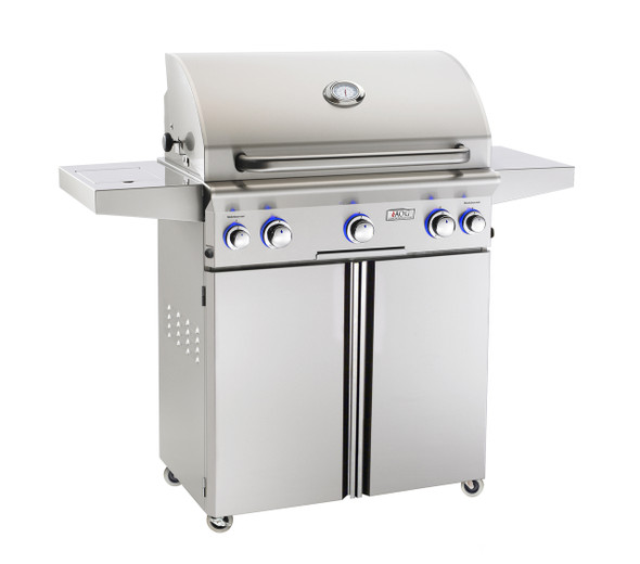 AOG 30PCL-OOSP L-Series 30-Inch Gas Grill On Cart With Side Burner