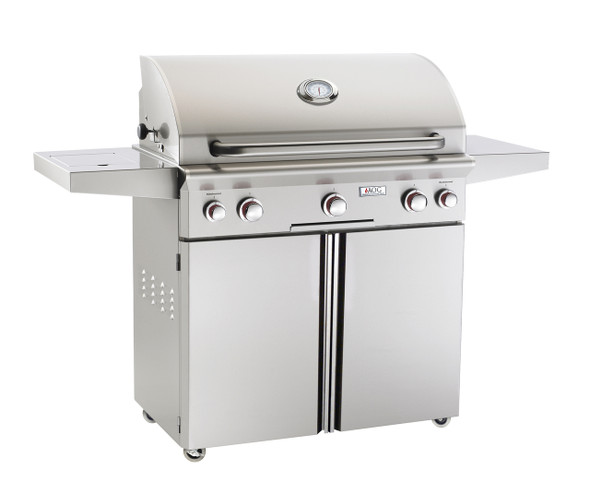 AOG 36PCT T-Series 36-Inch Gas Grill On Cart With Rotisserie & Single Side Burner