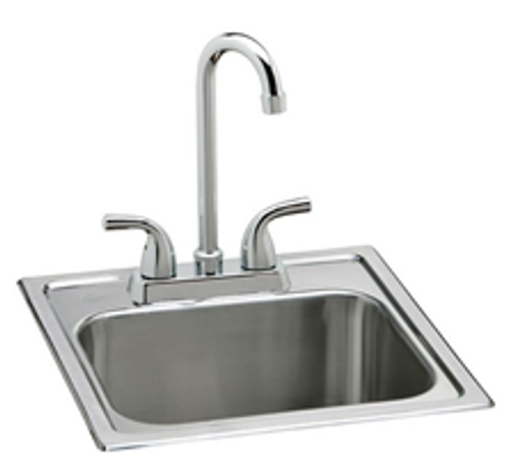 "BRES-15 Big Ridge Estate Series 15"" Sink and Faucet Set"