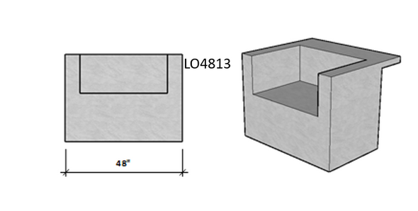 Level Overhang Seating