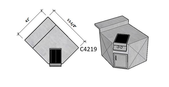 Side 1 Raised Bar Seating – Side 2 Standard