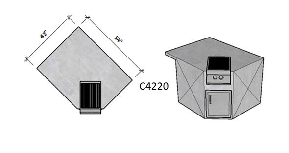 Side 1 Level Overhang Seating – Side 2 Standard