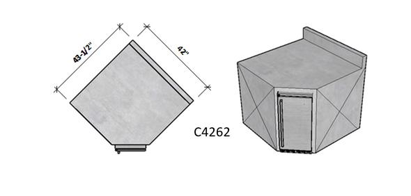 Side 1 Standard - Side 2 Backsplash