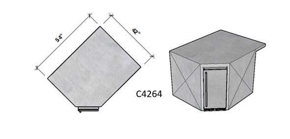Side 1 Standard - Side 2 Level Overhang Seating