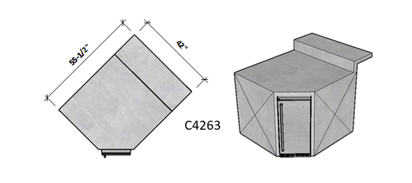 Side 1 Standard – Side 2 Raised Bar Seating