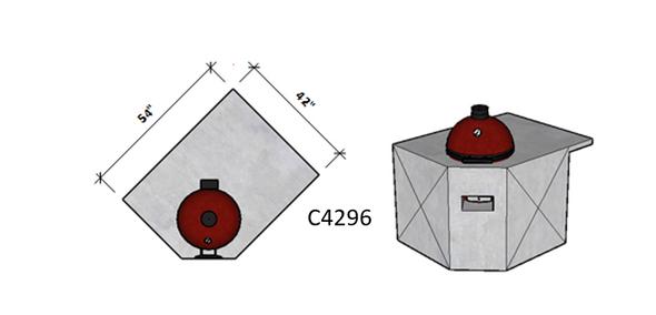 Side 1 Standard – Side 2 Level Overhang Seating