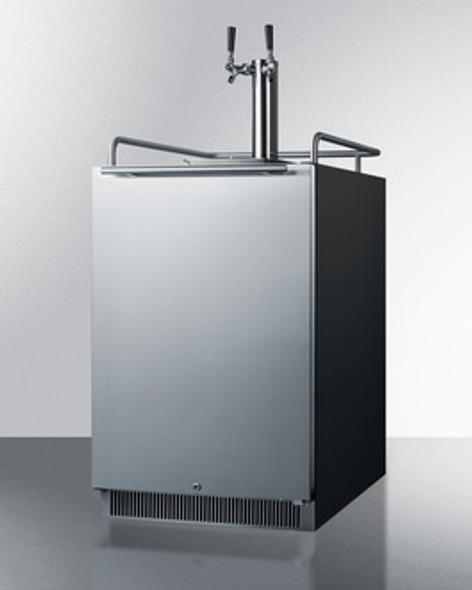 "Summit 24"" Wide Built-In Dual Tap Kegerator"