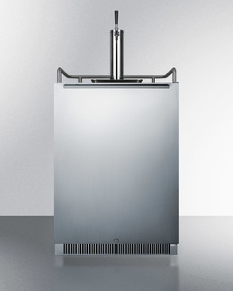 "Summit 24"" Wide Built-In Single Tap Kegerator"