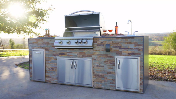 Aspen Pre Fab Finished Outdoor Kitchen
