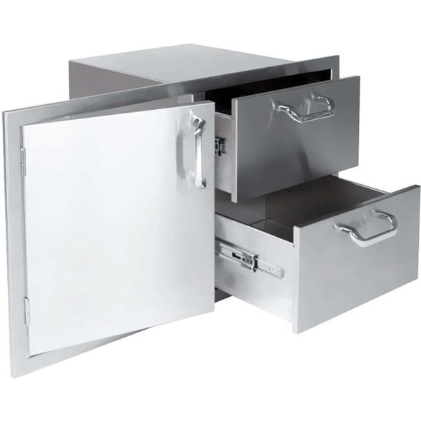 """Big Ridge Premium Series 42"""" Single Door/2 Drawer Combo"""