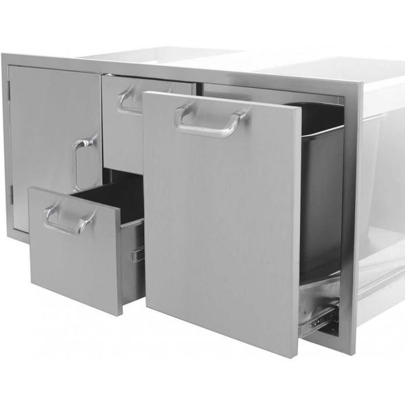 "Big Ridge Premium Series 42"" Single Door/2 Drawer/Trash Rollout Combo"