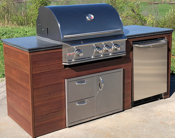 """Estate Series 84"""" Finished Outdoor Kitchen With Appliances"""