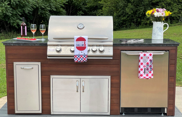 """Estate Series 88"""" Finished Outdoor Kitchen With Appliances"""