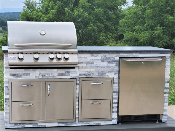 """Signature Series 87"""" Finished Outdoor Kitchen With Appliances"""