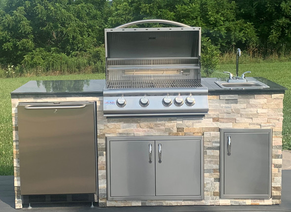 """Signature Series 87-B"""" Finished Outdoor Kitchen With Appliances"""