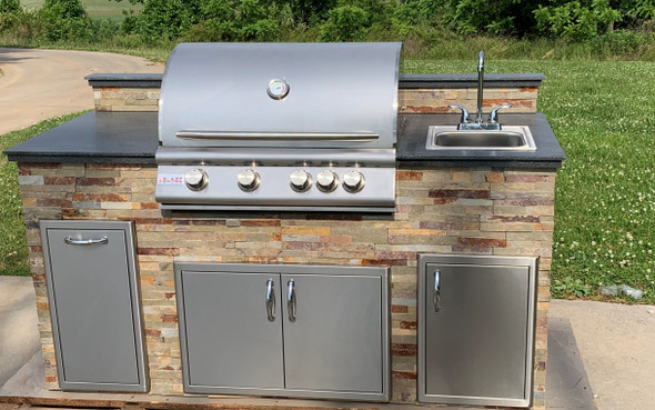 """Signature Series 79"""" Finished Outdoor Kitchen With Appliances"""