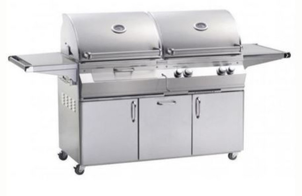 Fire Magic A830s-5EAN-61-CB Aurora Gas & Charcoal Combo Grill With Single Side Burner On Cart