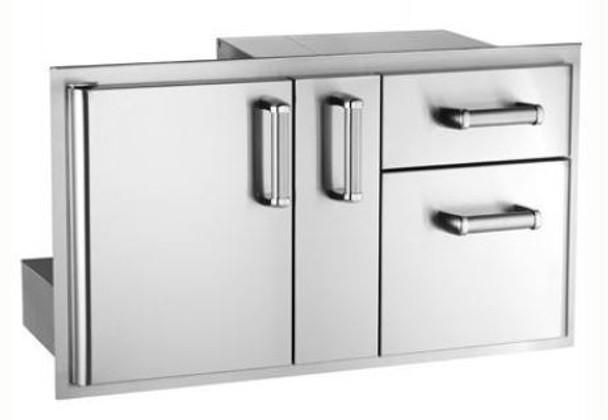 Fire Magic 53816SC Premium Flush Mount 36-Inch Access Door With Platter Storage & Double Drawer