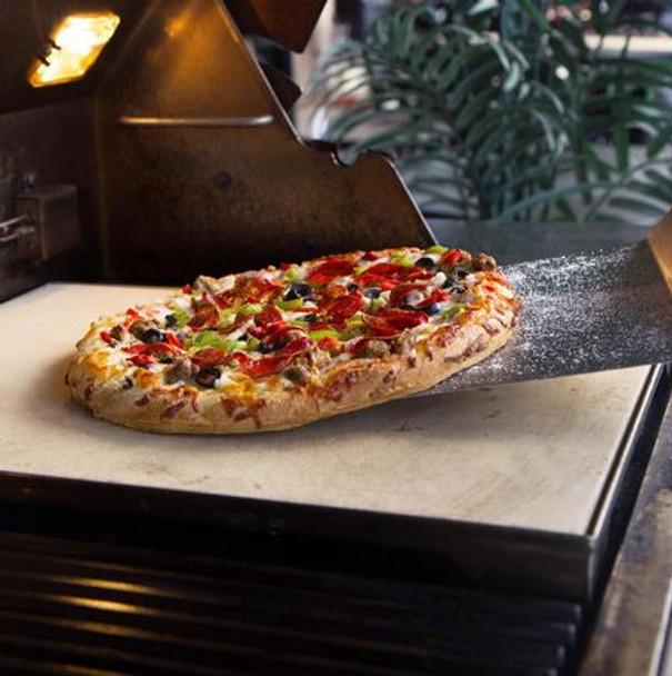Blaze PZST 14 3/4 Inch Ceramic Pizza Stone With Stainless Steel Tray