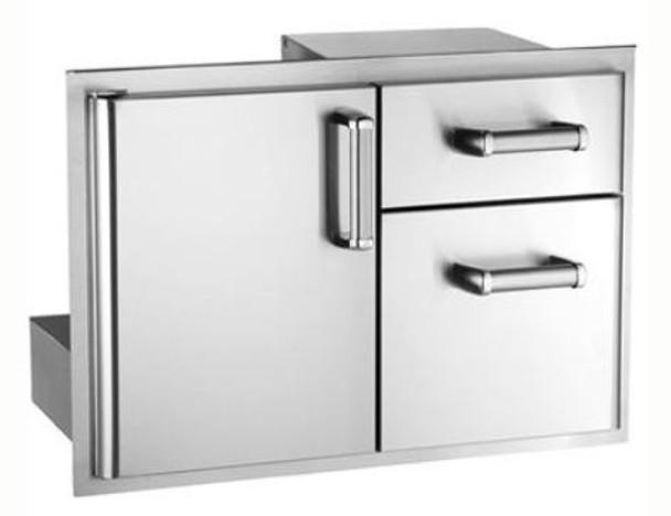 Fire Magic 53810SC Premium Flush Mount 30-Inch Access Door & Double Drawer Combo