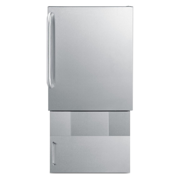 """Summit BASE32 Storage Base To Increase Height Of BIM240S Ice Maker TO 32"""" ADA Compliant Height"""