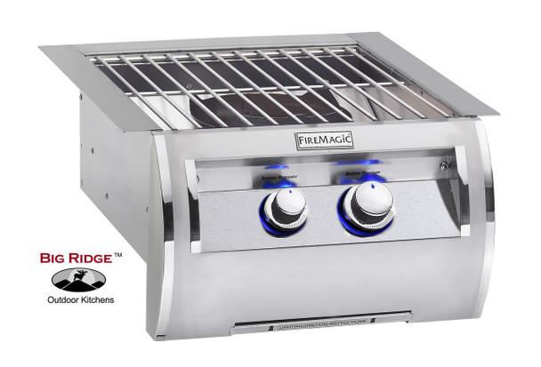 Fire Magic 19-4B1N-0 Echelon Diamond Power Side Burner With Cast Brass Burner & Stainless Steel Grid