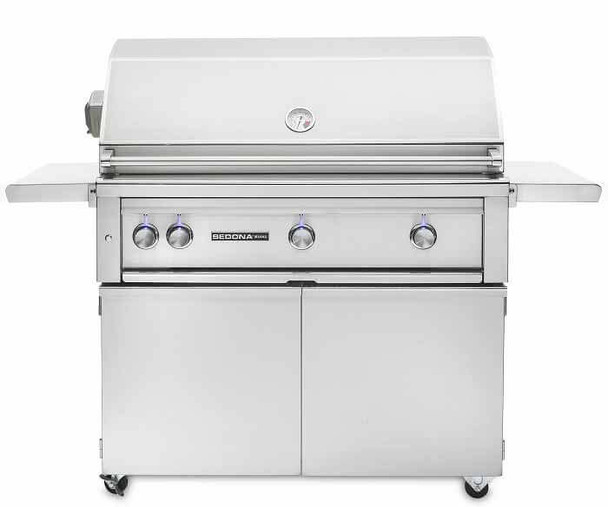 Sedona By Lynx L600PSFR 36-Inch Freestanding Gas Grill Gas BBQ With Infrared ProSear Burner & Two Stainless Steel Burners Plus Rotisserie