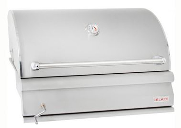 Blaze BLZ-4-CHAR 32 Inch Built-In Stainless Steel Charcoal Grill With Adjustable Charcoal Tray